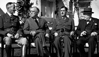 General Henri Giraud, Franklin Delano Roosevelt, Charles de Gaulle, and Winston Churchill at the Casablanca Conference