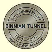 The plaque which was presented to every tunneller at the reunion