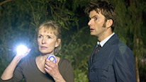 Lindsay Duncan plays Adelaide, the Doctor's (David Tennant) cleverest companion
