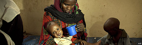 Mother and children in the Sahel region of Africa