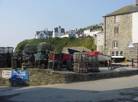 Lobster pots in Port Isaac harbour by Paul Maddox
