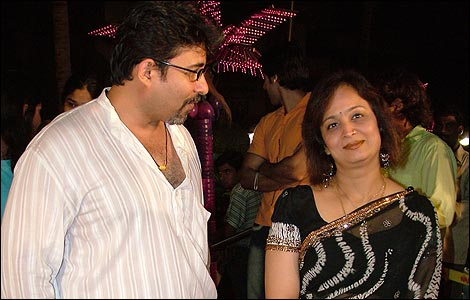 Deepak Tijori with Smita Thackeray