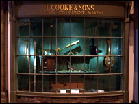 A recreation of Thomas Cooke's first shop as seen in the Castle Museum, York