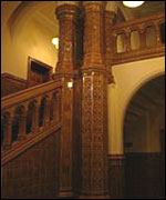 Burmantofts Faience in Leeds University's Great Hall