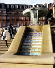 Sheffield Peace Gardens fountain, designed by Needle Designer Richard Perry.