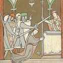 Image of Thomas Becket being murdered by knights