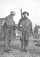Photograph of two members of the Home Guard