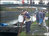 Cleaning up Walsall Canal