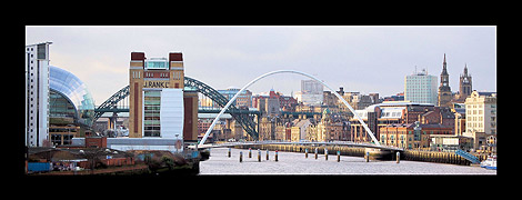 Panorama of Newcastle