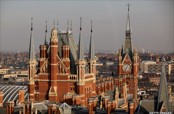 A general view of the St Pancras Renaissance Hotel