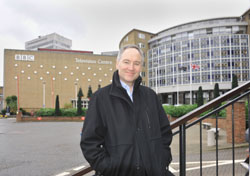 Chris Kane outside Television Centre