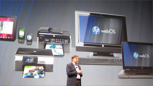 Presentation of HP's webOS operating system