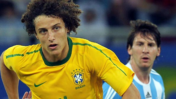 Luiz in action for Brazil