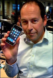 Rory Cellan-Jones and iPhone