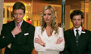 Max Beesley, Tamzin Outhwaite and Dexter Fletcher in Hotel Babylon