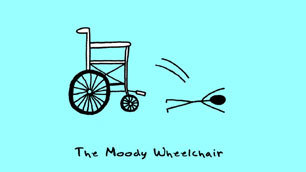 The Moody Wheelchair: a wallpaper by Andre Jordan
