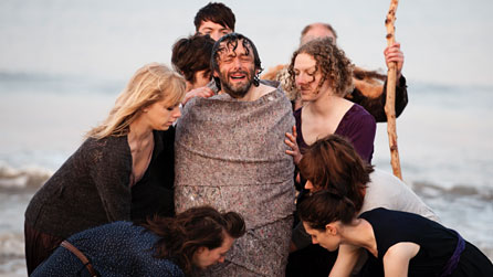 Michael Sheen and members of the cast of The Passion. Photo © Richard Hardcastle