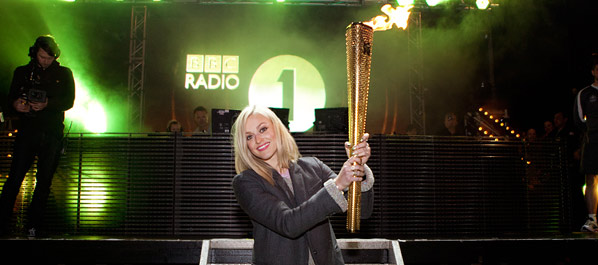 Fearne and the Olympic Torch