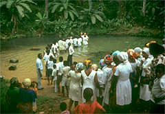 A Latter-day Saint baptism in Nigeria