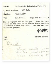 BBC Publicity Memo on 'Dad's Army'