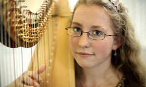 Classical Star: Verity plays the Harp