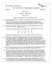 Audience Response for the final episode of 'Dad's Army'.