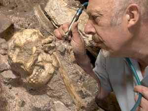 Ron Clarke and the Sterkfontein hominid