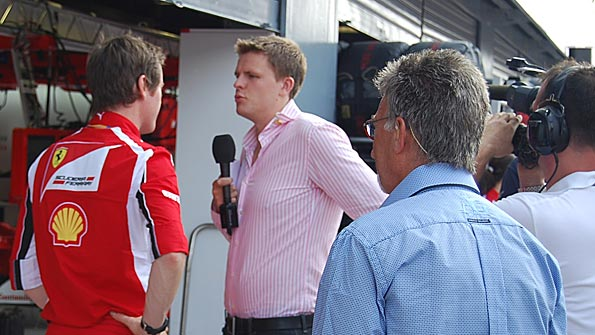 Jake Humphrey chats to Ferrari engineer Rob Smedley