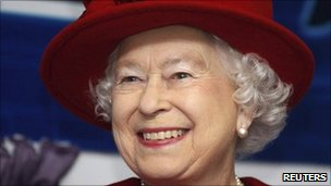 A picture of the Queen smiling