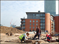 Archaeological dig in Castlefield