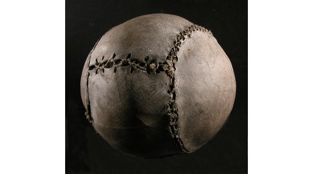 The World's Oldest Football, 1540, found in Stirling Castle. © Smith Art Gallery & Museum, Stirling
