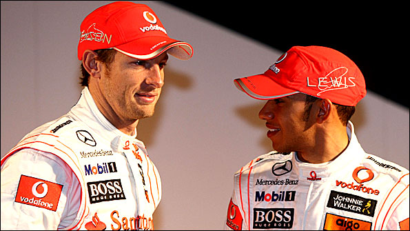 McLaren team-mates Button and Hamilton weigh each other up but who will come out on top?