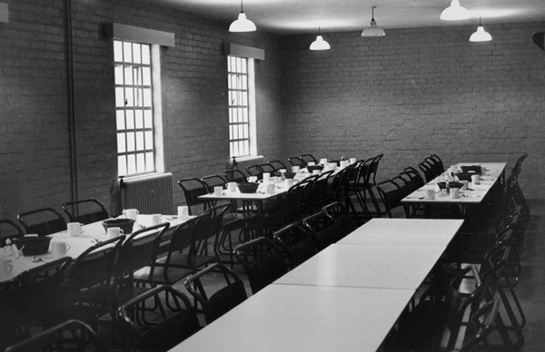 Dining hall at the Swinfen Hall borstal, 1963
