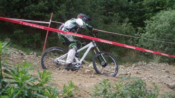 Rider in Fort William MTB World Cup
