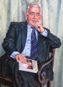 Lord Wigley portrait by David Griffiths. Image courtesy of the artist