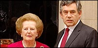Gordon Brown and Lady Thatcher