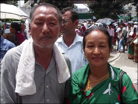 30th July: Father-of-five, Baburam Gurung, a former Gurkha soldier, wants to take advantage of his new right to settle in the UK.