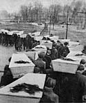 Funeral procession of Auschwitz dead