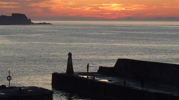 Francis McEwan from Glasgow  captured this sunset over Cullen harbour.