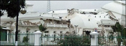 Haiti's National Palace after collapse