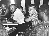 Martin Luther King at a meeting