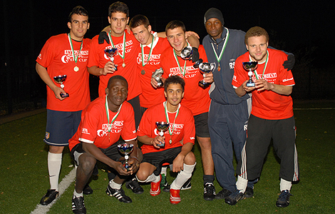 Waltham Forest Positive Futures under 18s tournament winners. Photograph courtesy of Sabera Bham.