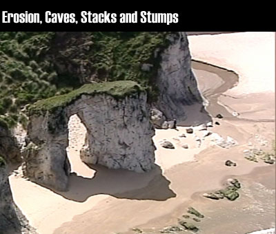 Erosion, Caves, Stacks and Stumps clip