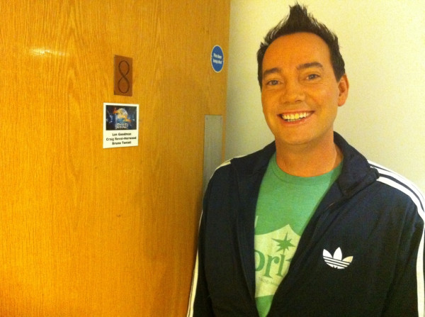 Craig outside the judges' green room