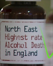 Graphic; North East has highest alcohol related death rate in England