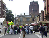 Hope Street festival, and the Anglican Cathedral