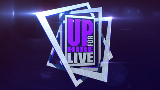 Up for Hire Live Logo