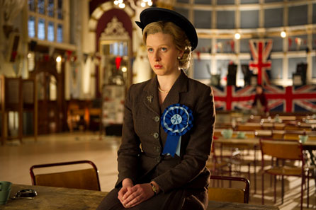 Alexandra Roach as a young Margaret Thatcher in The Iron Lady. Image: Pathé UK