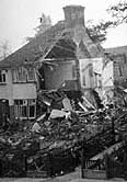 Photograph showing Bomb damage to a house