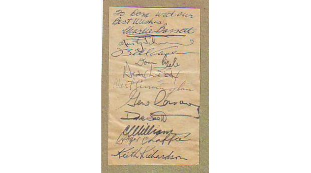 Autographs of the astronauts